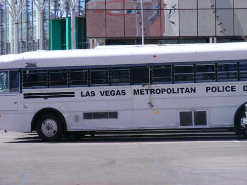 Las Vegas Metropolitan Police Department Bus parked at CCDC